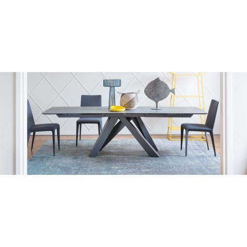 Bonaldo - BIG TABLE 160 ceramica grafite