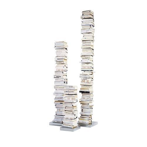 LIBRERIA  PTOLOMEO bianca, base inox 215 -Opinion Ciatti