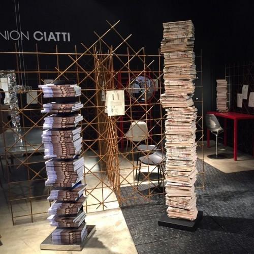 PTOLOMEO ART nera base inox 215 di Opinion Ciatti