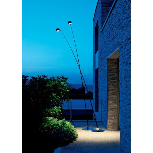 LAMPADA SAMPEI OUTDOOR da terra 440 LED BLACK - Davide Groppi