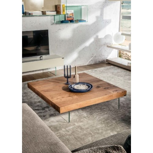 COFFEE TABLE AIR QUADRATO HAYWOOD/AGEWOOD L. 120 H. 28 - LAGO