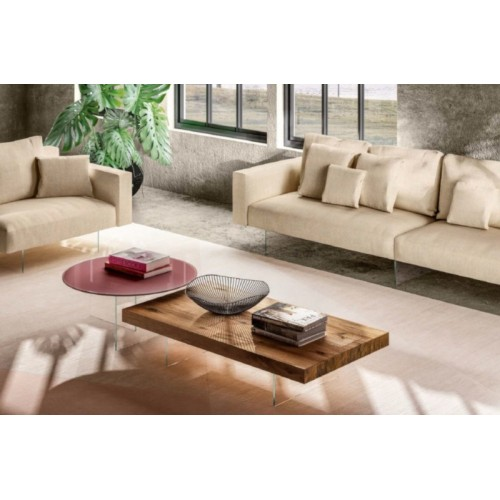 COFFEE TABLE AIR RETTANG.HAYWOOD/AGEWOOD L.147.2 H. 28 - LAGO