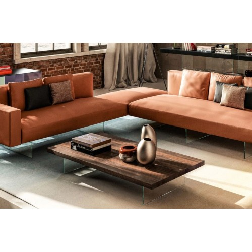 COFFEE TABLE AIR RETTANG. HAYWOOD/AGEWOOD L. 190 H. 41,4 - LAGO