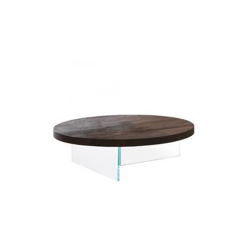 COFFEE TABLE AIR ROTONDO TOP WILDWOOD DIAM. 120 x H. 28 - LAGO