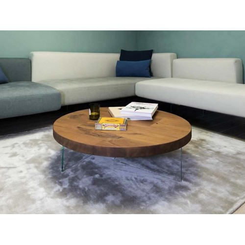 COFFEE TABLE AIR ROTONDO TOP WILDWOOD DIAM. 120 x H.