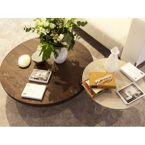 COFFEE TABLE AIR ROTONDO TOP WILDWOOD DIAM. 120 x H. 41,4 - LAGO