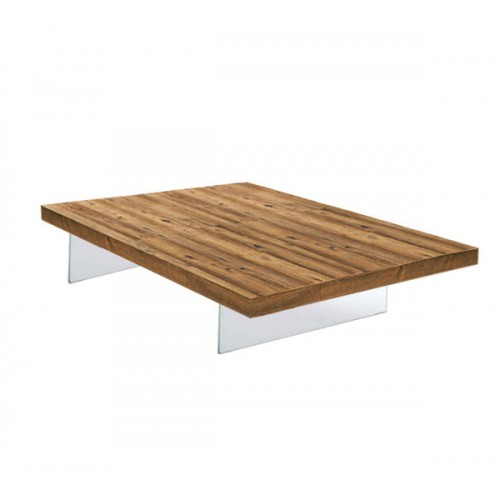 COFFEE TABLE AIR QUADRATO TOP WILDWOOD L. 110,4 x H. 31 - LAGO