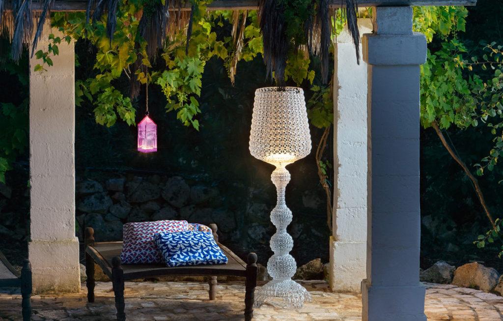 lampada kabuki kartell da esterno