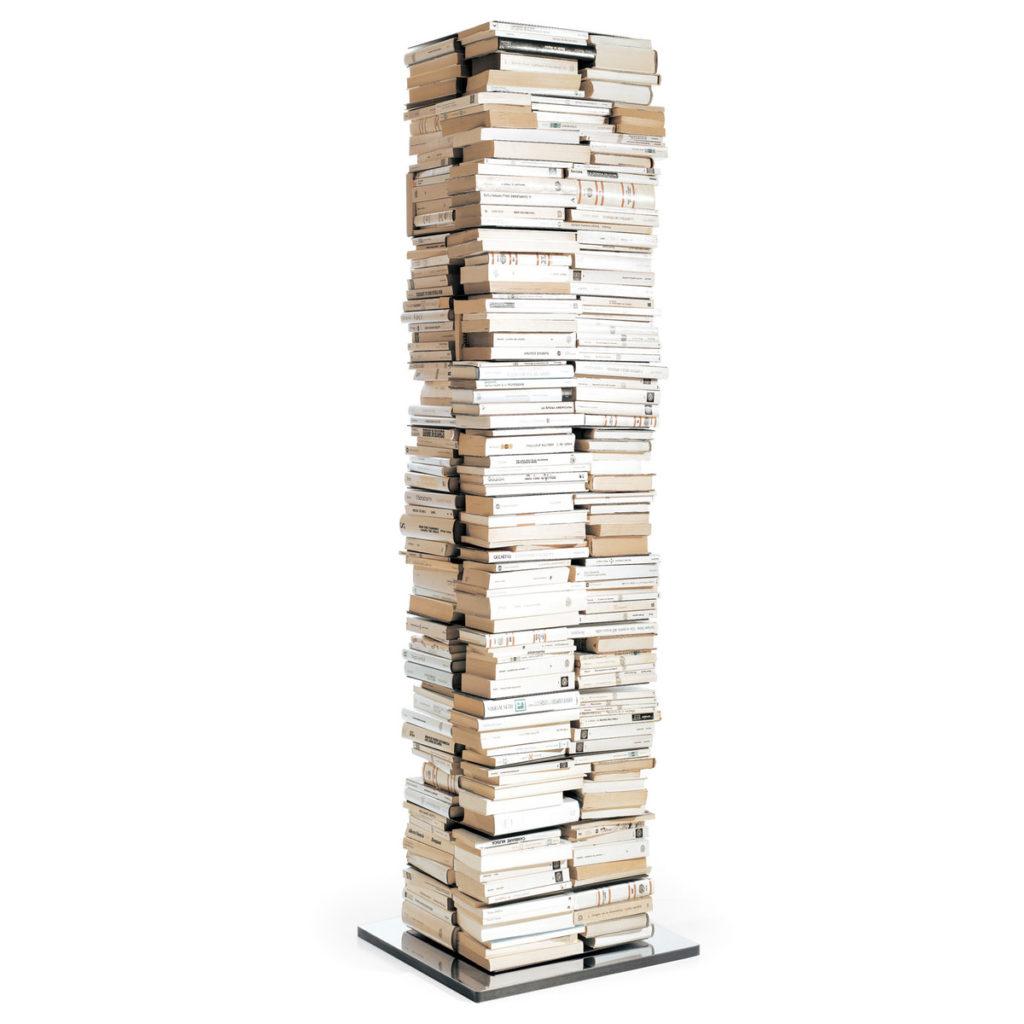 Ptolomeo bianca acciaio libreria