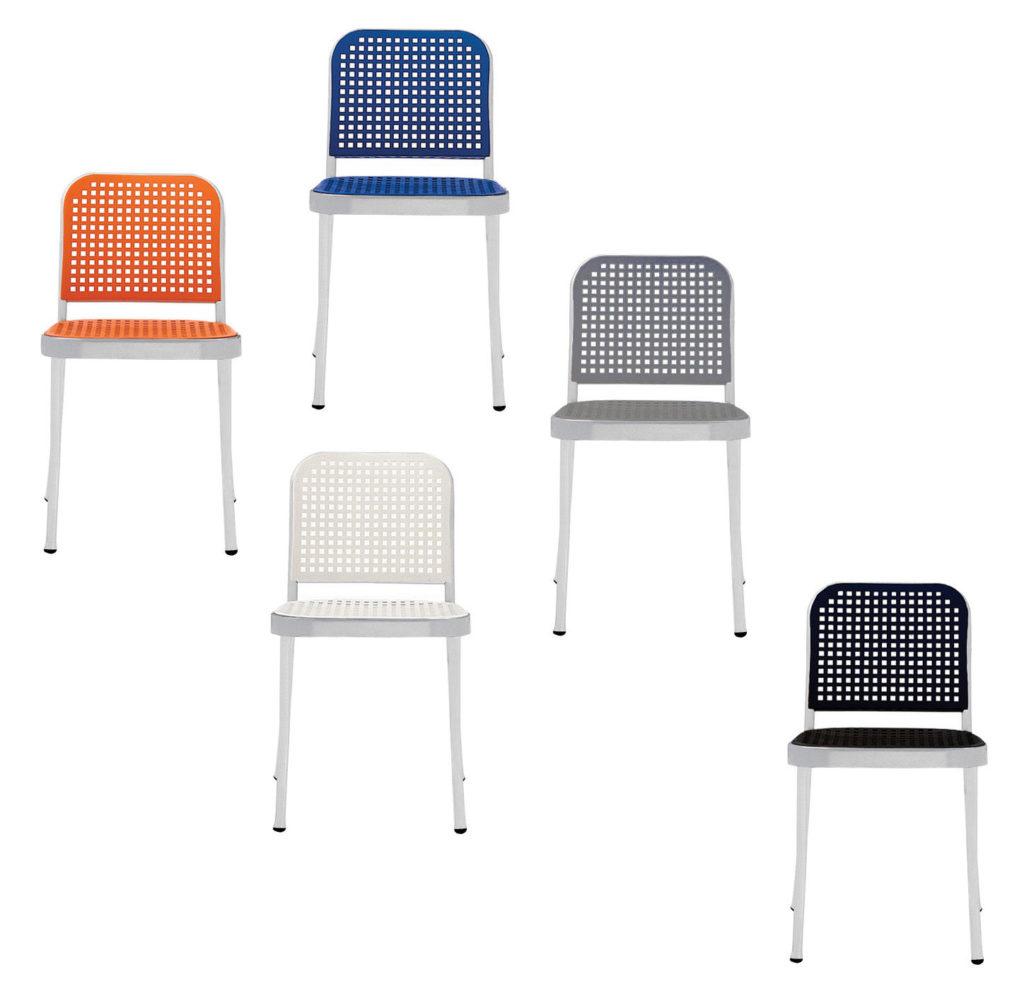 sedia silver De Padova designer Vico Magistretti