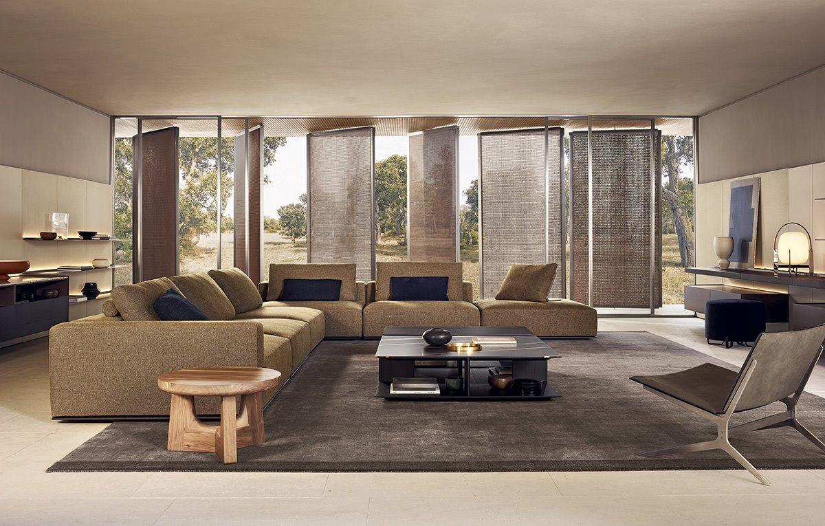 Il soggiorno di Design di Poliform - divano Westside