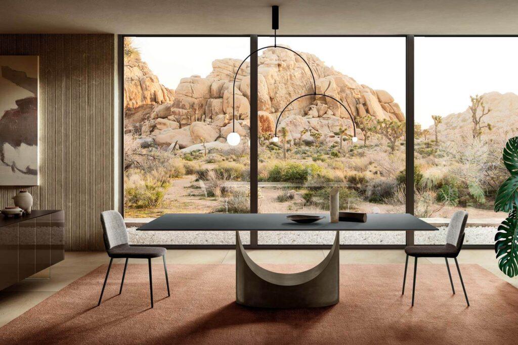 Soggiorno di Design -Tavolo-U-Glass